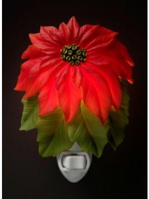 Poinsettia Bonded Marble Night Light
